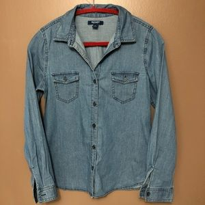 Old Navy • Chambray • Button-Down Shirt • Small
